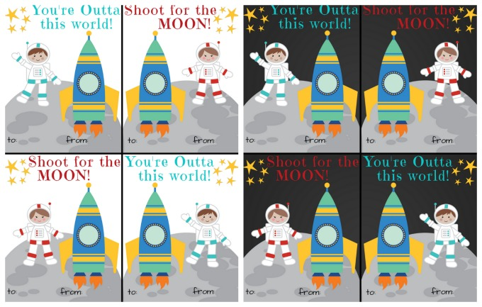 Space Theme Valentines Printable