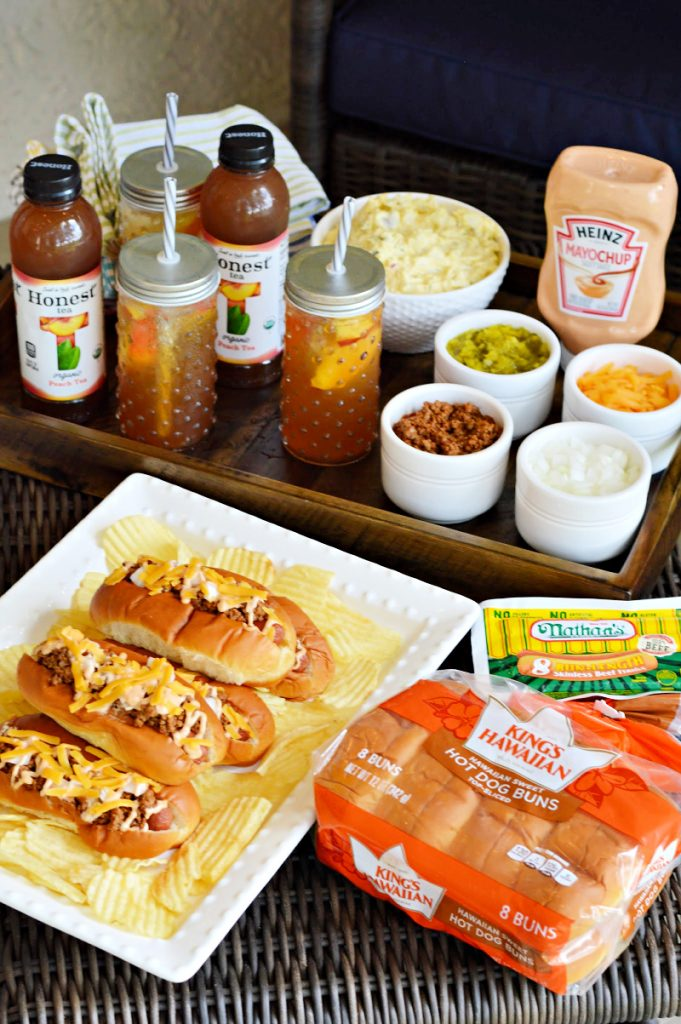 Summers are for grilling! I have some grilling and entertaining inspiration for you today, including the best homemade chili dogs recipe and a simple Peach Bellini Iced Tea recipe. Also, some great savings on grilling staples at Publix and an awesome sweepstakes. Publix has you covered this grilling season with the Sweet Summer Grilling Sweepstakes.