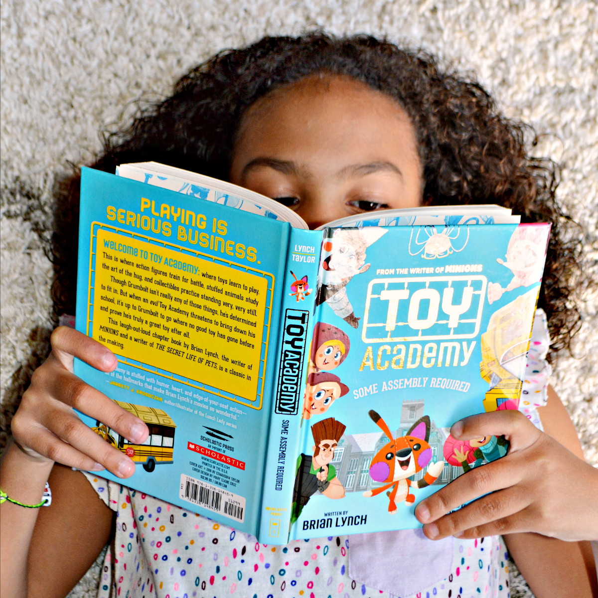 Toy Academy: Some Assembly Required is a laugh-out-loud book that is perfect for readers ages 7 - 10. Written by Brian Lynch, the writer of the movies Minions and The Secret Life of Pets, with illustrations by Edwardian Taylor. This fun-filled adventure is sure to make your child giggle.