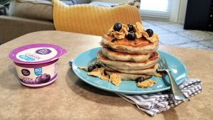 Calling all pancake enthusiasts! Start your day right with this recipe for fluffy and delicious Blueberry Greek Yogurt Pancakes.