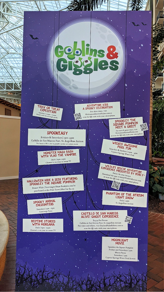 Goblins and Giggles Getaway Weekends at Gaylord Palms Resort