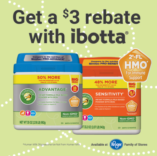 The cost of diapers and formula add up really fast, so finding the best deal on infant formula and other baby essentials is important. Designed to suit your baby's individual needs, Comforts Infant Formula at Kroger provides complete nutrition just like leading brands, only it costs a lot less.