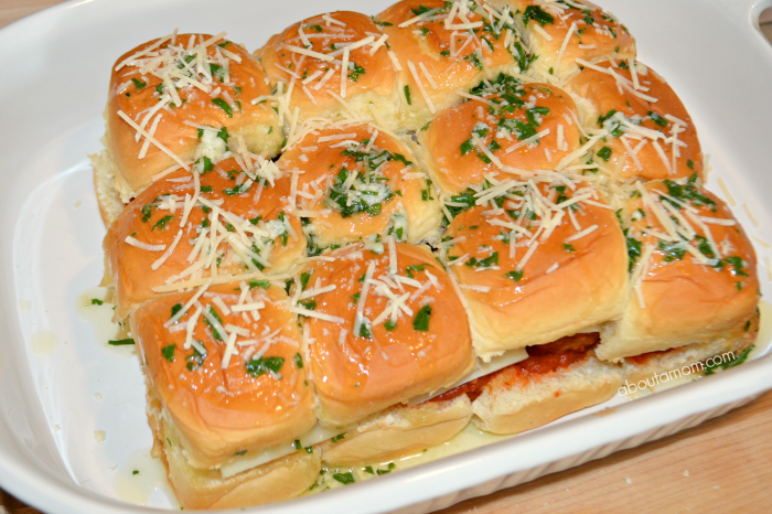 Delicious meatball parmigiana sliders are a quick and easy appetizer that everyone will love.