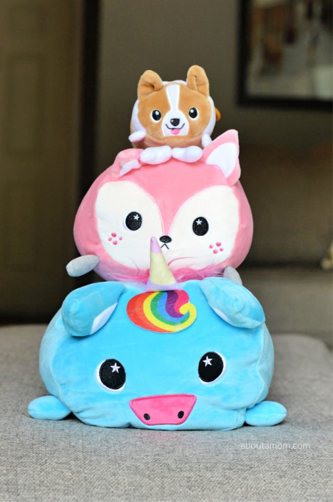 What do you call a marshmallow-soft, squishy animal pillow? Moosh-Moosh™ Soft Plush Buddies! Moosh-Moosh makes the perfect December present for stocking stuffers, dreidel game prizes or an under-the-tree surprise.