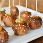 Slow Cooker Pineapple Teriyaki Meatballs