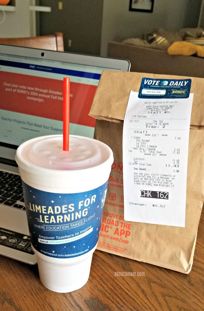 SONIC's Limeades for Learning is a national award-winning initiative to support U.S. public school teachers in local communities.