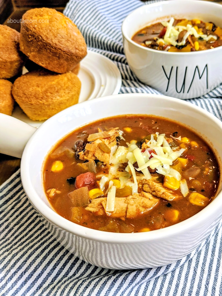 This Tex-Mex Slow Cooker Chicken Chili recipe is incredibly flavorful and comes together easily in the slow cooker. Made with dried beans and just a few additional ingredients, this chicken chili recipe is also easy on the budget. It is a mildly hot chili and a hearty meal the whole family will enjoy.