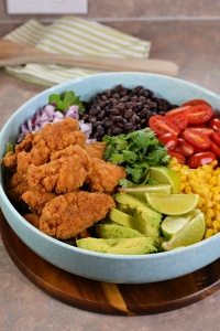 Tex-Mex Crispy Chicken Salad