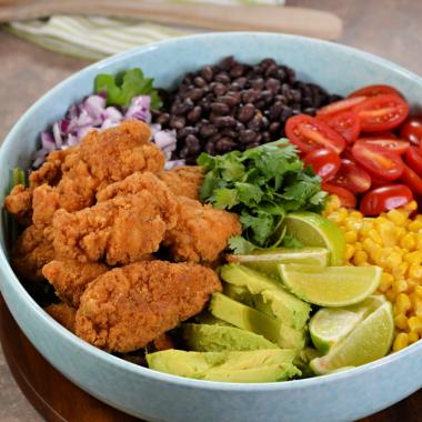 Tex-Mex Crispy Chicken Salad