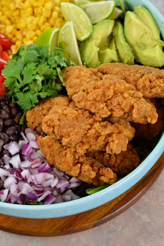 This hearty and delicious Tex-Mex Crispy Chicken Salad is simple to prepare. It's a perfect, easy weeknight dinner that the whole family will enjoy.