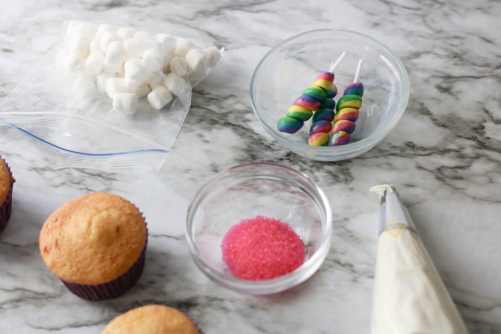 Unicorn Cupcakes ingredients