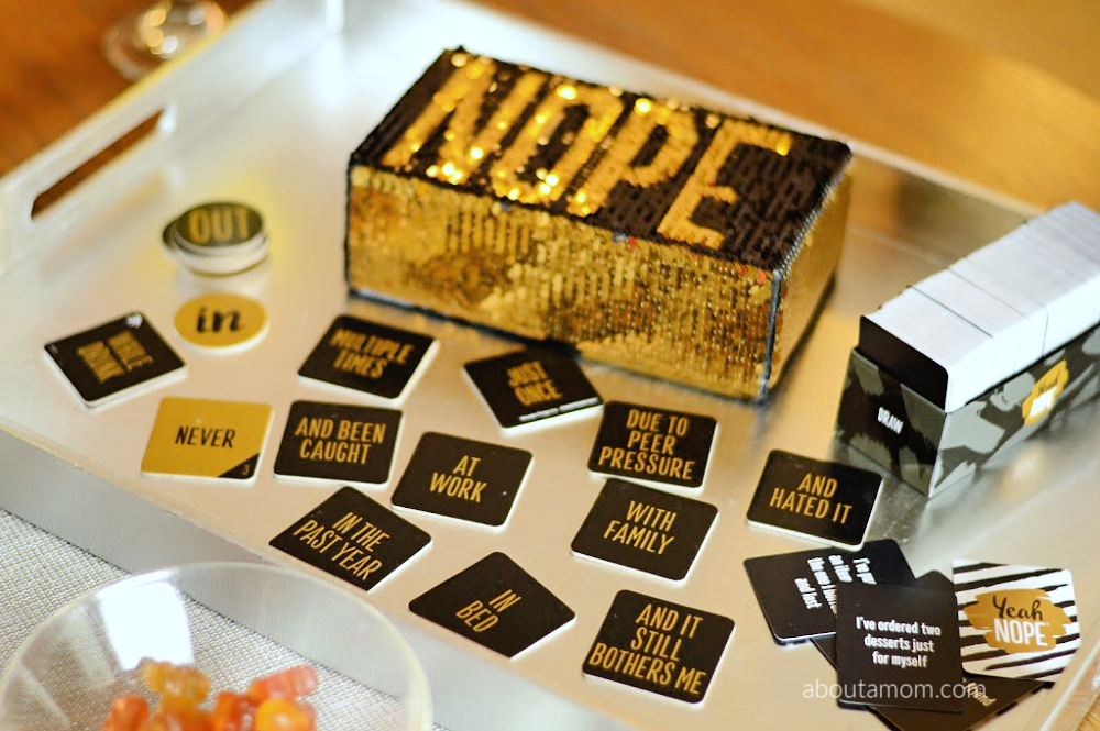 Host the ultimate girls' game night with YeahNOPE. Ladies' night in is getting a dose of tell-all fun with the irresistible new party game YeahNOPE by Wonder Forge. This isn't your mama's book club. Well … the wine is still there.