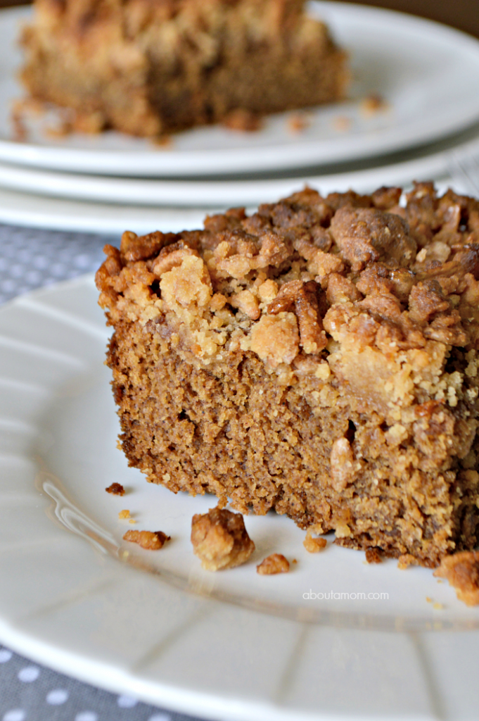 Sour Cream Coffee Cake with Crunchy Cinnamon Pebbles Crumb Topping