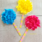 Truffula Trees Craft inspired by 'The Lorax'