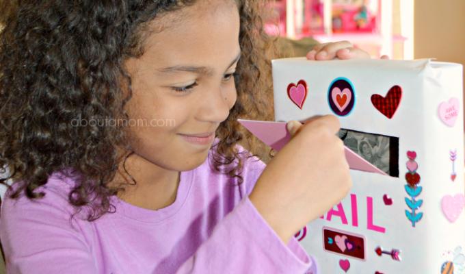 Cereal Box Mailbox for Valentines + Valentine Card Craft