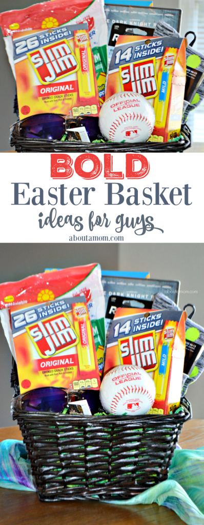 A helpful list of Easter basket ideas for guys. Treat the special man or teen boy in your life this Easter!