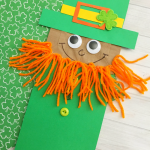 Leprechaun Paper Bag Puppet Kid Craft