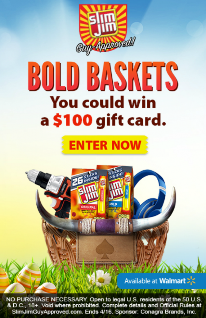 Bold easter basket ideas for guys about a mom create your own slim jim bold basket for a chance to win a 100 walmart gift card learn more here or click the image below slimjimboldbaskets negle Choice Image