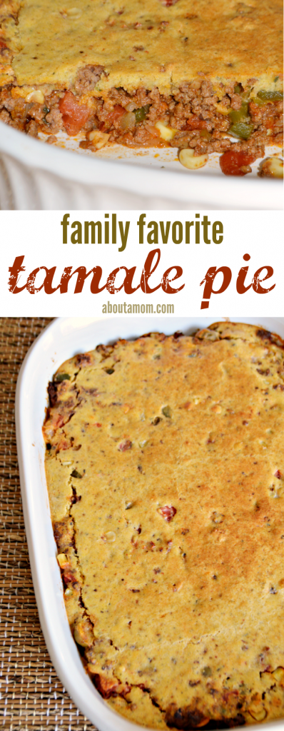 This tamale pie recipe has a flavorful beef and tomato filling, and a Martha White Mexican Style Cornbread topping.