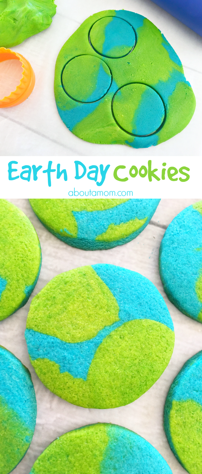 Earth Day printables and activities for kids. Earth Day cookies to celebrate Earth Day in April. Kids will love these!