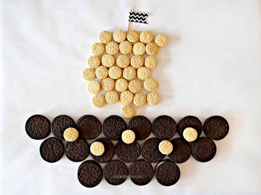 Use this OREO Cookie Castle and Pirate Ship as inspiration, then make your own cookie creation for the OREO Games Stack Attack Challenge. When you're done whip up an easy-to-make Turtle OREO S'mores treat!