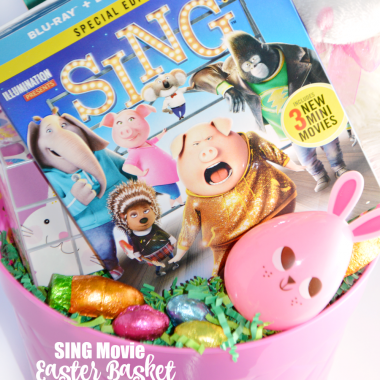 SING movie Easter basket inspiration and ideas for non-candy Easter basket fillers that your kids are sure to love.