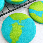 Earth Day cookies to celebrate Earth Day in April. Kids will love these!