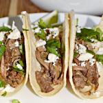 Slow Cooker Salsa Verde Beef Tacos Recipe
