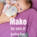 There are many ways to bond with your baby even if you are not able to breast feed. Bottle feedings can be a special time for you and your infant. Learn how to make the most of feeding time with your baby.