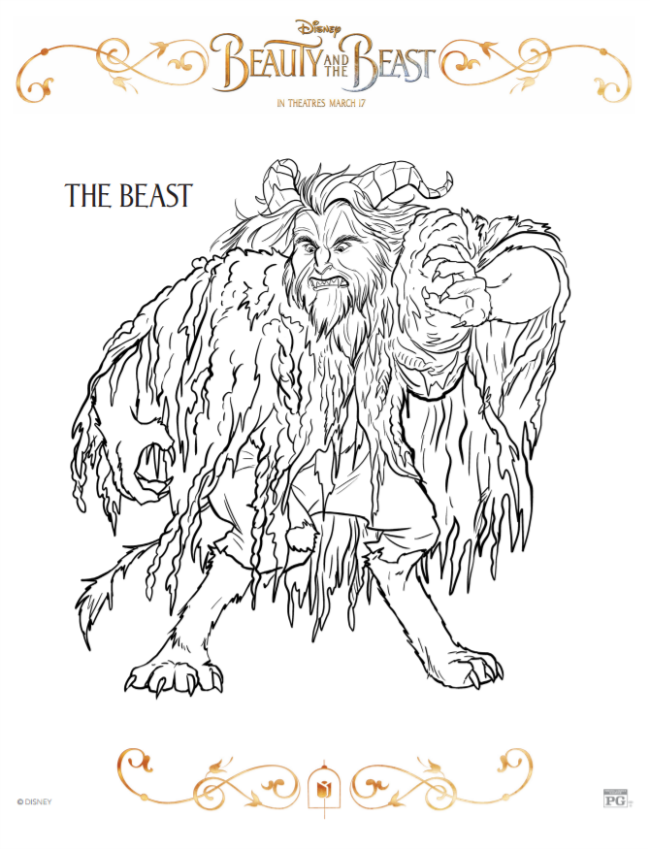 The Beast Coloring Sheet
