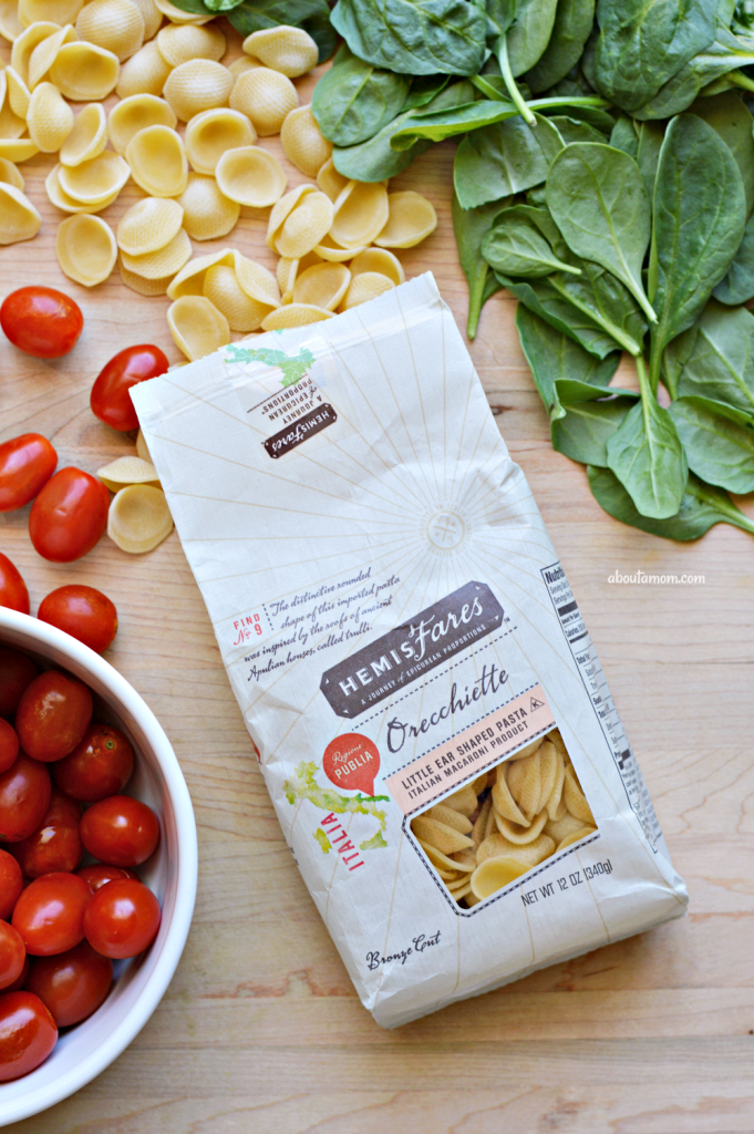 A delicious and easy-to-prepare orecchiette pasta recipe. Orecchiette pasta with sauteed tomatoes, spinach and white beans is a simple yet flavorful dish inspired by my travels across Italy last summer.