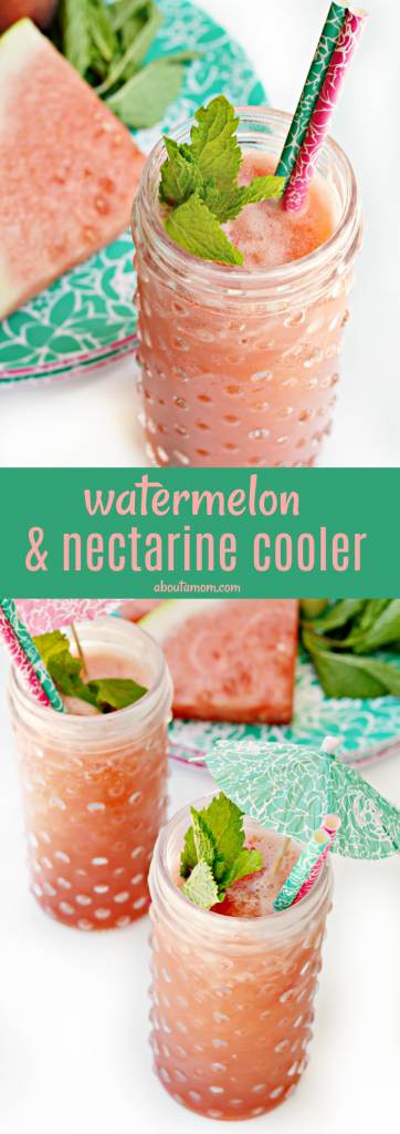 Georgia grown watermelons are perfect for this refreshing Watermelon, Nectarine and Mint Coolers recipe. This delicious and simple-to-make drink is a great summertime beverage.