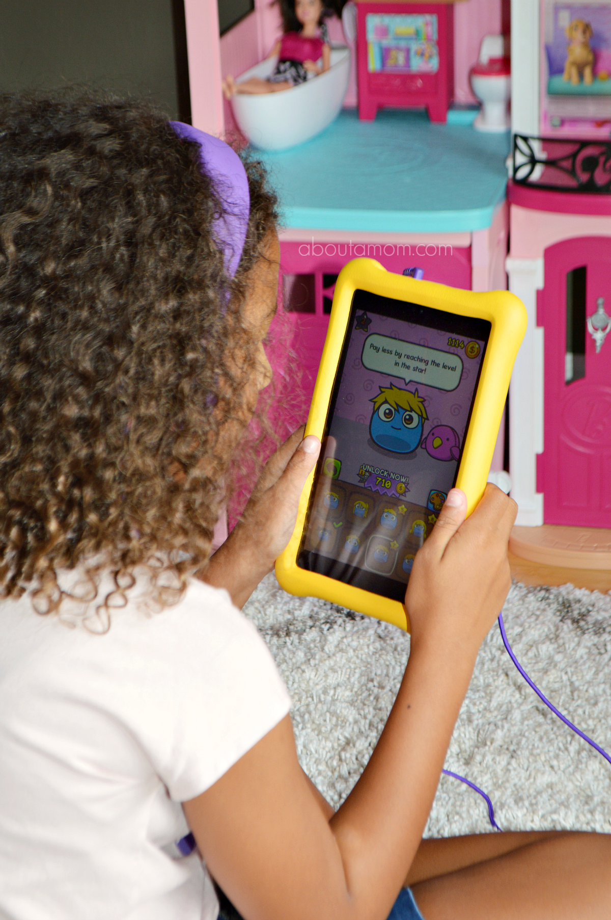An Amazon Fire Kids Tablet is great for back to school. The Amazon Fire HD 8 Kids Edition Tablet comes with Amazon FreeTime Unlimited and offers excellent parental controls.