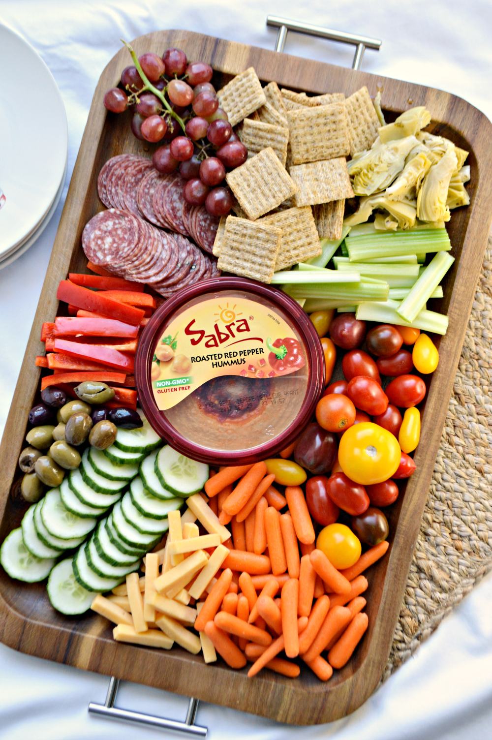 Sometimes simple is best, especially when it turns out looking like you put a lot of time and effort into it. A simple antipasto hummus platter is perfect for a light meal or entertaining.