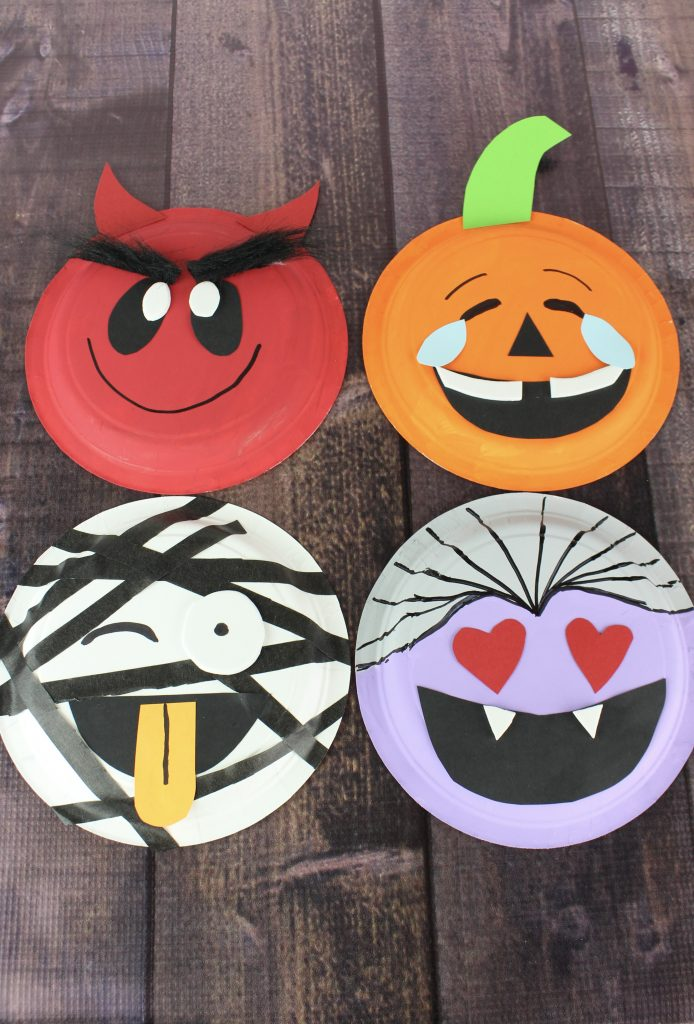 emoji halloween paper plate crafts about a mom. Black Bedroom Furniture Sets. Home Design Ideas