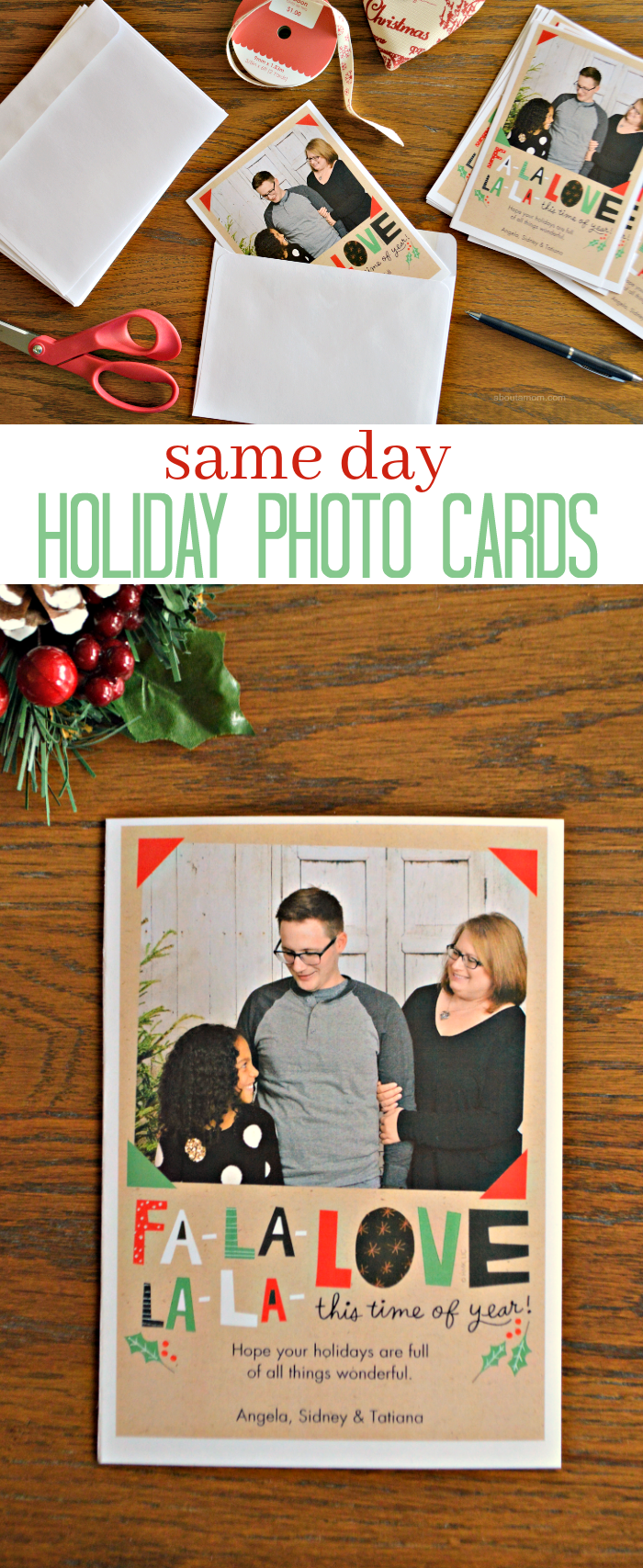 short on time  get same day holiday photo cards from cvs