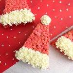 Looking for a last minute Christmas treat These cute Santa Hat Rice Krispie treats are so cute, easy to make and ready in no time