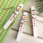 Simple Snowman Clothespin Craft