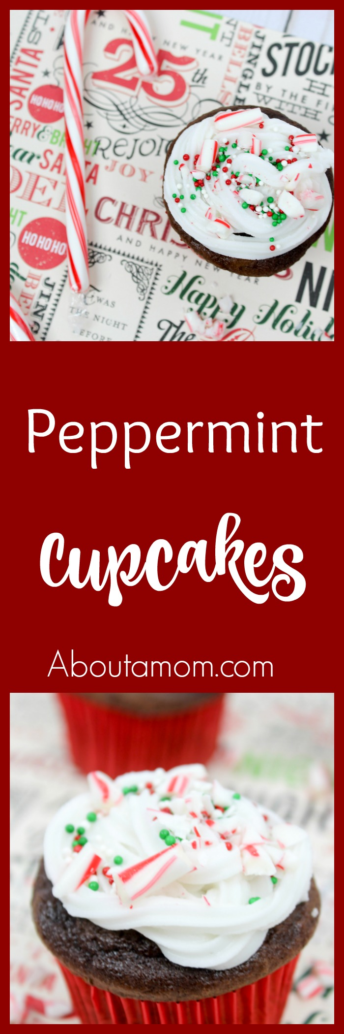 Looking for a simple peppermint cupcake recipe to take to your next holiday get together? These peppermint cupcakes are a fun Christmas treat.