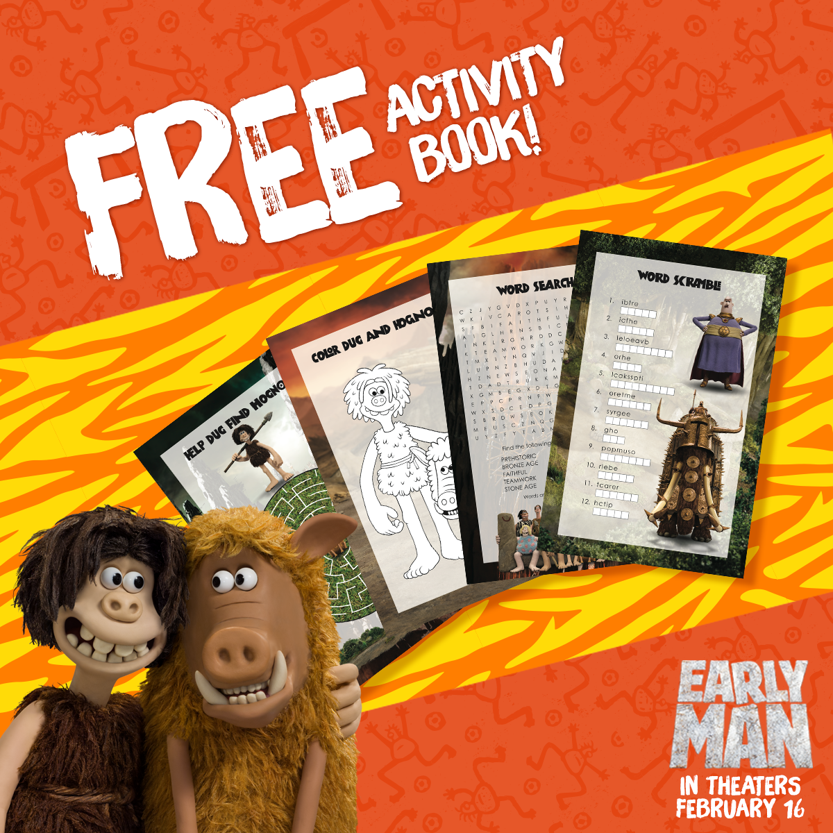 Early Man Movie Activity Book