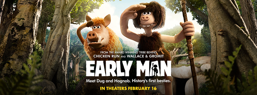 The EARLY MAN movie hits theaters on February 16, 2018! Set at the dawn of time, when dinosaurs and woolly mammoths roamed the earth, EARLY MAN tells the story of how one brave caveman unites his tribe against a mighty enemy and saves the day.