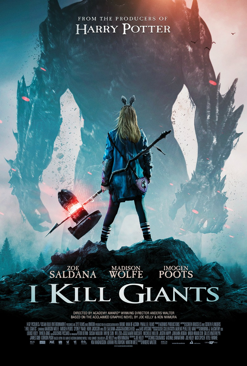 I KILL GIANTS movie is an epic adventure about a world beyond imagination. Based on the acclaimed graphic novel by Joe Kelly and Ken Niimura, and from the producer of Harry Potter, Chris Columbus. I Kill Giants is in select theaters and On Demand March 23, 2018.