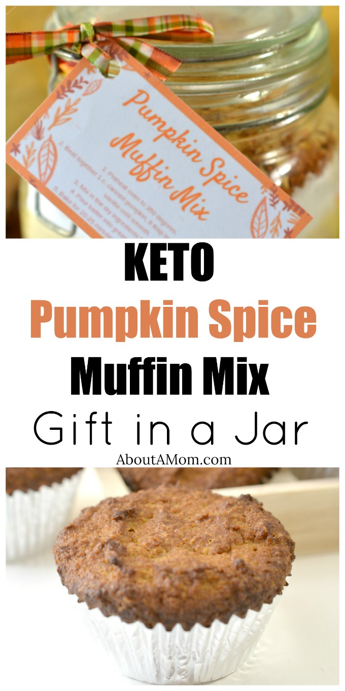 Looking for a great gift in a jar? This Keto Pumpkin Spice Muffin Mix is a great idea. Even people who are not on the Keto diet will love how easy these muffins are to make.