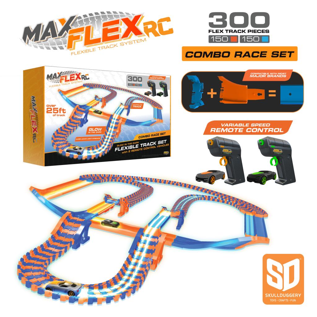 Have a Little Race Fan? Enter this Max Flex 300 RC Combo Edition Race Set Giveaway!