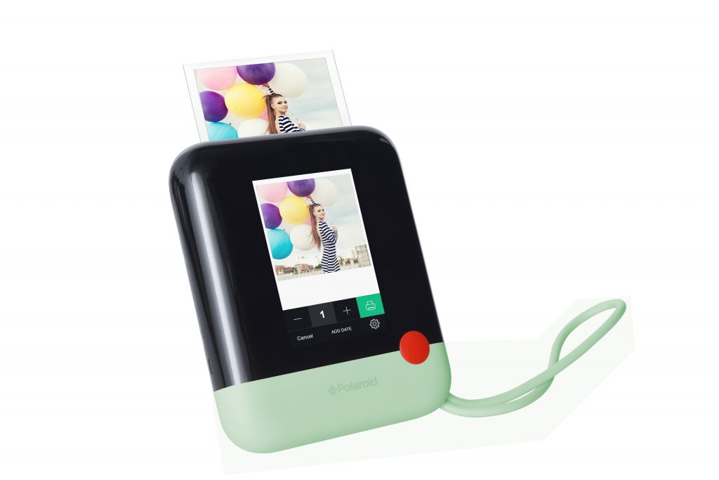 Snap, print and share with the new Polaroid Pop. The Polaroid Pop makes it fun, quick and easy to snap, record, edit, print and share all of your special moments via bluetooth connectivity to the Polaroid app or the built-in instant printer!