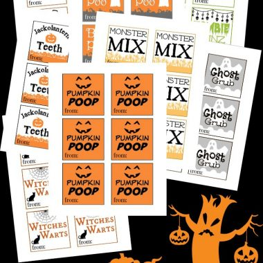 Halloween goodie bags are a great idea for a Halloween party for kids. Whether it is at school or with an organization, kids get excited about goodie bags. Use these Halloween printables for Halloween gift giving.