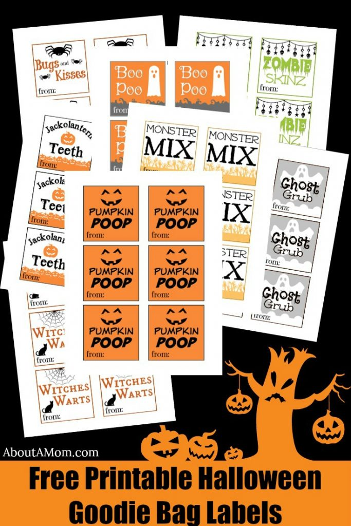 image regarding Printable Holloween named Halloween Goodie Baggage - Absolutely free Printable - Over A Mother