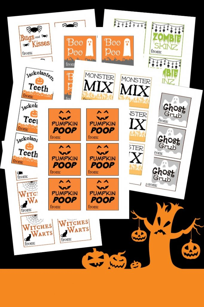 Free Printable Halloween Goodie Bags