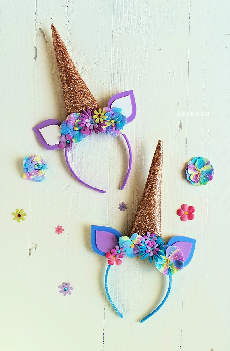 Unicorn horn headbands are super popular right now. Here's an easy DIY unicorn headband tutorial. Learn how to make a unicorn headband with the included free printable pattern.