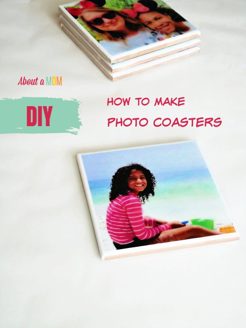 Learn how to make photo coasters. These DIY Photo Coasters are incredibly simple and inexpensive to make, and a fun project that will bring your photos to life. Everyone will love these personalized photo gifts.
